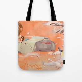 Aviator Orange Tote Bag