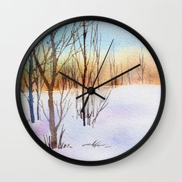 Winter Forest 4 Wall Clock