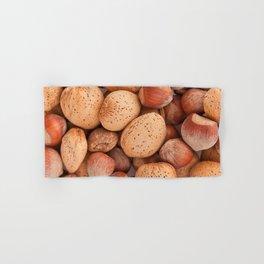 Hazelnuts and almonds Hand & Bath Towel