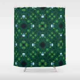 Easter garden pattern Green flower pattern Shower Curtain