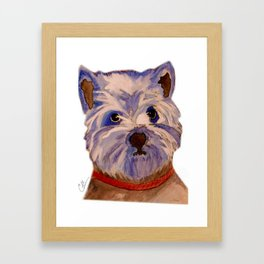 West highland terrier Westie dog love Framed Art Print