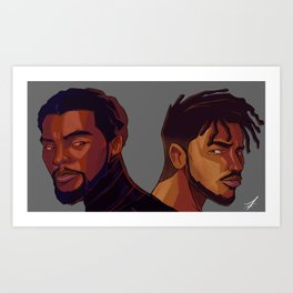 Black Panther and Killmonger Art Print
