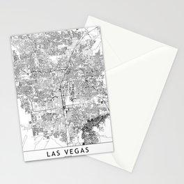 Las Vegas White Map Stationery Cards