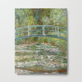 Bridge over a Pond of Water Lilies by Claude Monet,1899 Metal Print