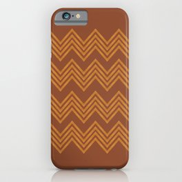TRIBAL CHEVRON - Pantone Ginger Bread color iPhone Case