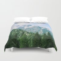 italian Duvet Covers featuring Italian alps by Carlo Toffolo