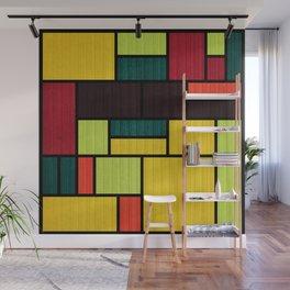 Mondrian Bauhaus Pattern #09 Wall Mural