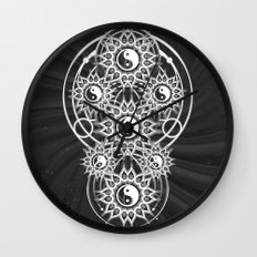 Seven Yin Yang Symmetry Balance Energy Wall Clock