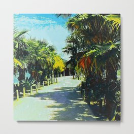 Palm Trees In Spain II Metal Print
