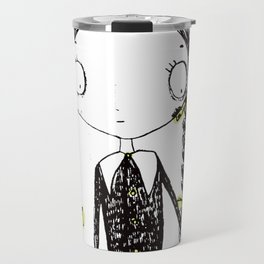 Wednesday Addams Illustrated Travel Mug