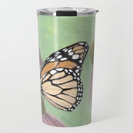 Monarch Butterfly Art, Orange Butterfly Painting Travel Mug