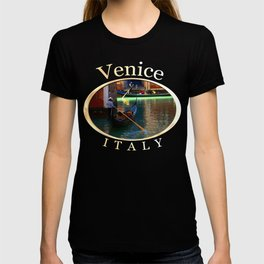 Gondoliers On A Venetian Canal T-shirt