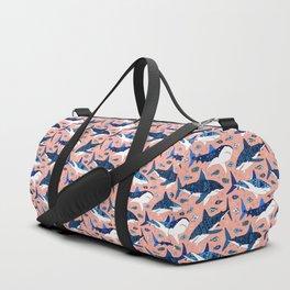 Sharks On Blush Duffle Bag