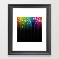 Colorful Space Rainbow Stars Framed Art Print