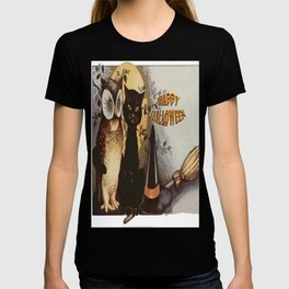 Owl and Cat Halloween T-shirt