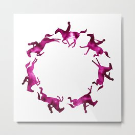 Showjumping Horse Sequence (Magenta) Metal Print