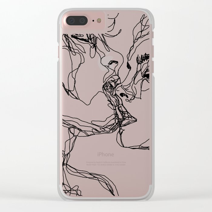 kiss more often Clear iPhone Case