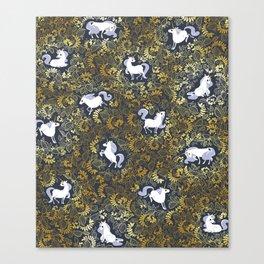 Unicorn pattern Canvas Print