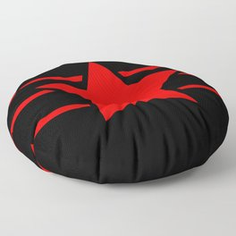 Red star with red lines - Vector Floor Pillow