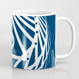 Radiant Abundance (blue-white) Coffee Mug