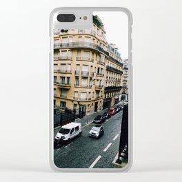 paris apartment balcony photograph Clear iPhone Case