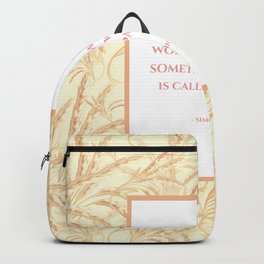 Working Hard with Passion Quote Backpack