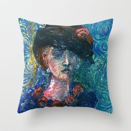 Coffee with Van Gogh Throw Pillow