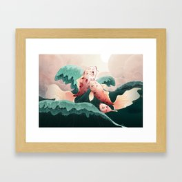Searching the light Framed Art Print