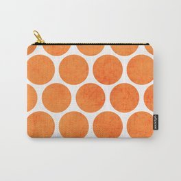 orange polka dots Carry-All Pouch