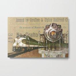 Train vintage tracks travel old Metal Print