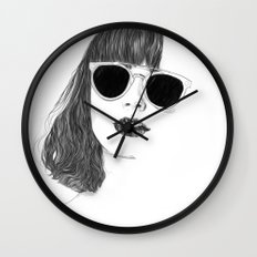 Hair Study #2 Wall Clock