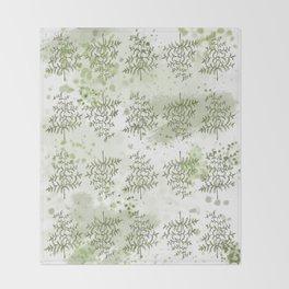 Fern & Paint Pattern Throw Blanket