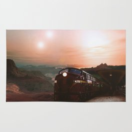 The Red Planet Railroad Rug