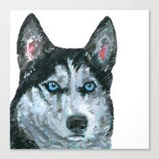 Husky printed from an original painting by Jiri Bures Canvas Print