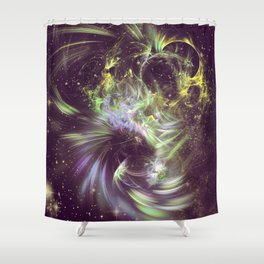 Twisted Time - Black Hole Effects Shower Curtain