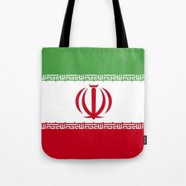 Iran flag emblem Tote Bag