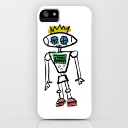 Robot Prince(ss)/Binary is for Code, Not Gender iPhone Case