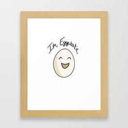Eggstatic Framed Art Print