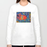 lost in translation Long Sleeve T-shirts featuring Lost in Translation by Adrienne S. Price