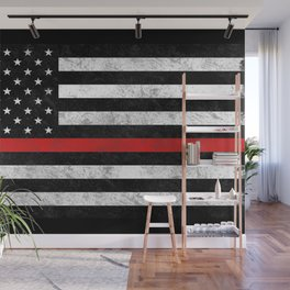 Thin Red Line Wall Mural