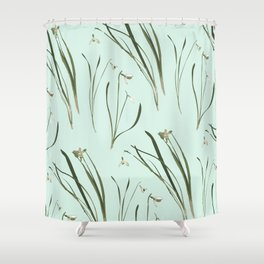 GALANTHUS IN MINT Shower Curtain