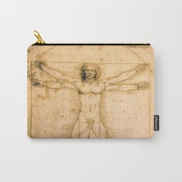 Vitruvian Man by Leonardo da Vinci Carry-All Pouch