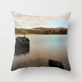 Rydal Water Morning Throw Pillow