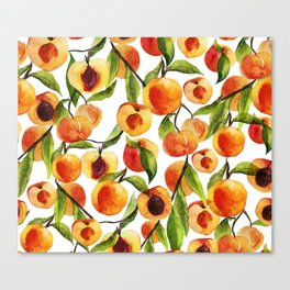 Passionate for peaches Canvas Print
