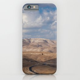 Road from Jerusalem to Jericho iPhone Case