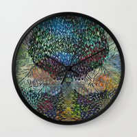biology Wall Clocks featuring Tree of Life 2 - The Sacred Tree  by Klara Acel
