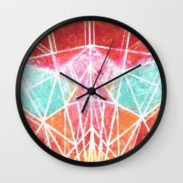 Cat - Colorful Geometric Wall Clock