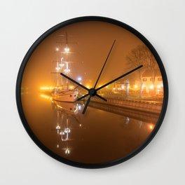 Memel im Nebel Wall Clock