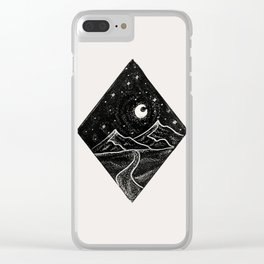 Mountains and Stars Clear iPhone Case
