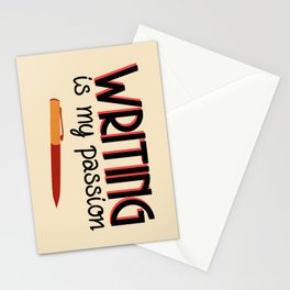 Writing Is My Passion Stationery Cards